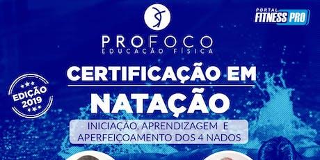 Certificação em Natação - edição 2019 ingressos