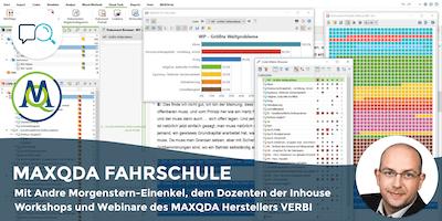 MAXQDA FAHRSCHULE - Live-Online-Seminar für Kleingruppe an 8 Abenden (Jan.-Feb. \
