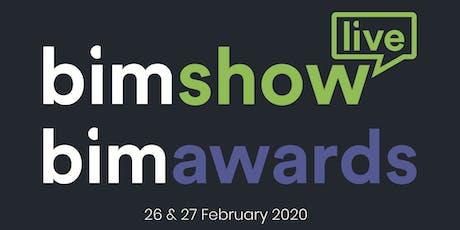 BIM Show Live & BIM Awards 2020 tickets