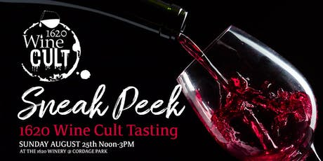 Sneak Peek 1620 Wine Cult Tasting tickets