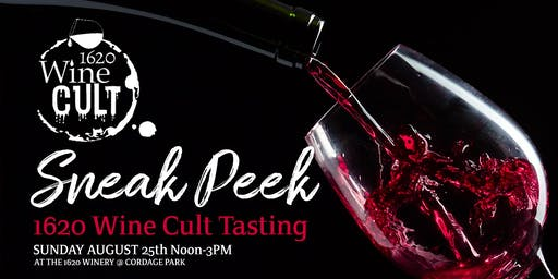 Sneak Peek 1620 Wine Cult Tasting