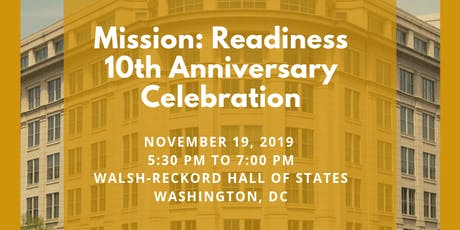 Mission: Readiness 10th Anniversary Celebration & Fundraiser tickets