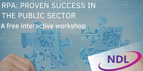 RPA: Proven Success In The Public Sector - Greenwich tickets