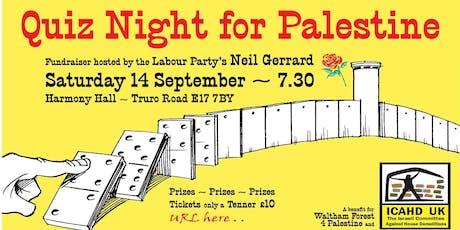 Quiz Night for Palestine tickets