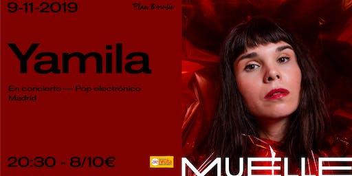 Yamila en concierto -pop electrónico- en Muelle (Bilbao)