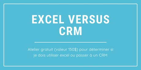 Atelier: Utiliser un fichier Excel ou un CRM? @ Nuage B tickets