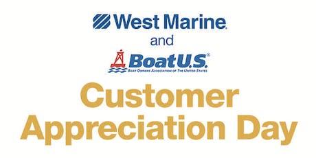 West Marine Rocklin Presents Customer Appreciation Day! tickets
