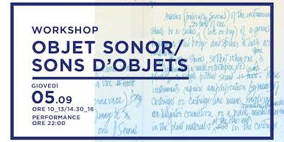 Objet Sonor/Sons D'objets
