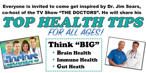 Dr. Jim Sears' Top Health Tips (for all ages) Event in Reno, NV
