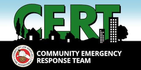 CERT Training (Lake LA) tickets