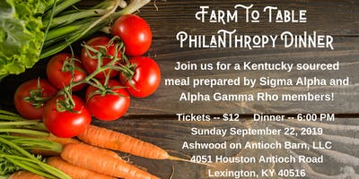 Farm to Table Philanthropy Dinner