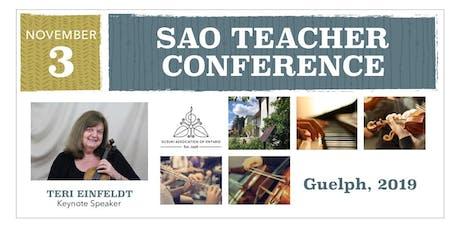 TEACHER DAY - Suzuki Association of Ontario Annual Conference 2019 (Guelph) tickets