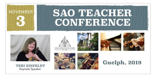 TEACHER DAY - Suzuki Association of Ontario Annual Conference 2019 (Guelph)