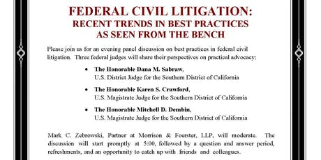 Federal Civil Litigation: Recent Trends in Best Practices  tickets