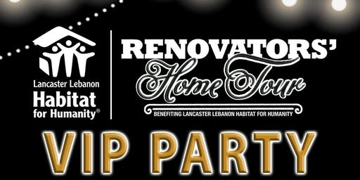 "Renovators' Home Tour ""VIP Party"""
