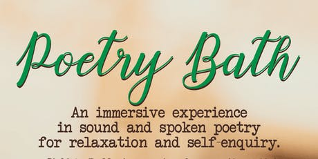 Poetry Bath tickets
