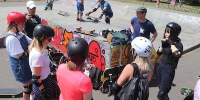 Girlventure- Girls only- Skateboarding lesson in Clapham Common