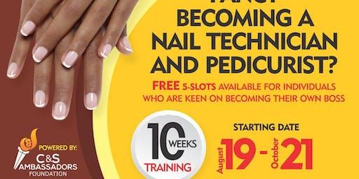 Free Nail Technician and Pedicurist Training