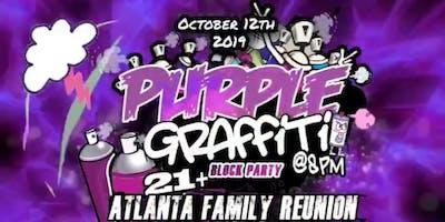 PURPLE GRAFFITI BLOCK PARTY