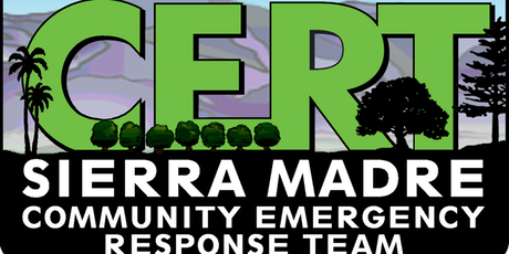 CERT Basic Training Sierra Madre, - CERT Basic Training, Oct 12-19, 2019