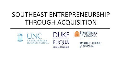 Southeast Entrepreneurship Through Acquisition Conference - 2019