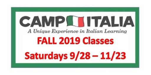 Italian for Children...Fall 2019...Sept 28 to Nov 23