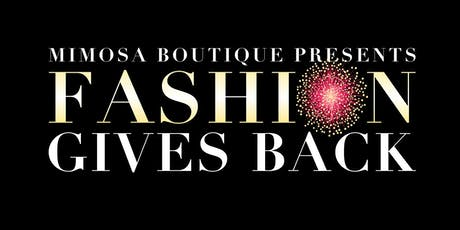 Fashion Gives Back 2019 tickets