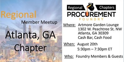 Greater Atlanta Member Meetup –  August 2019