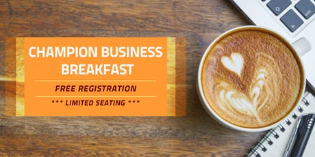 Champion Business Breakfast tickets