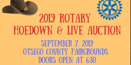 2019 Rotary Club of Gaylord Live Auction and Hoedown - 18 to purchase ticket 21 to enter tickets