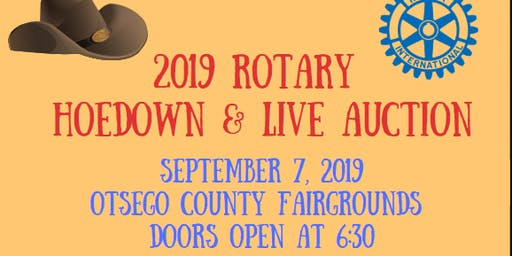 2019 Rotary Club of Gaylord Live Auction and Hoedown - 18 to purchase ticket 21 to enter