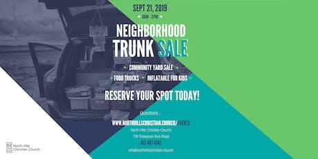 NHCC Trunk Sale Registration tickets