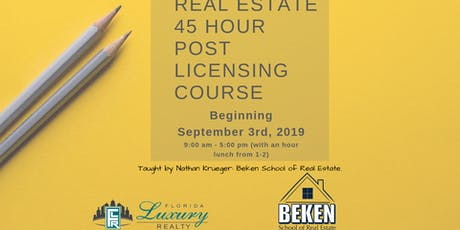 Real Estate 45 Hour Licensing Course Day 1  tickets