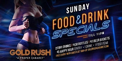 Sunday: Food & Drink Specials