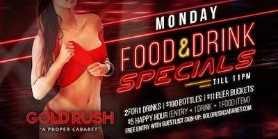 Monday: Food & Drink Specials
