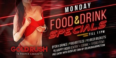 Monday: Food & Drink Specials tickets
