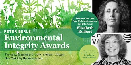 Peter Berle Environmental Integrity Awards tickets
