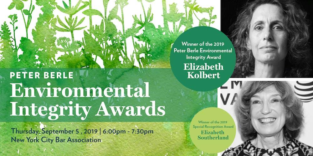Peter Berle Environmental Integrity Awards Tickets, Thu, Sep 5, 2019