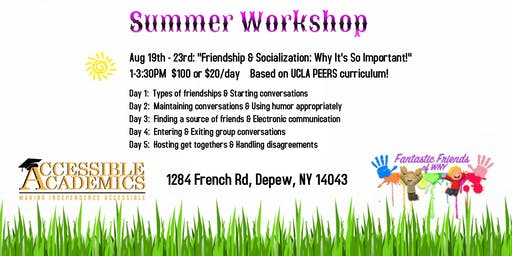 Socialization & Friendship Workshop