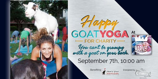 Happy Goat Yoga-For Charity at Frisco Fresh Market