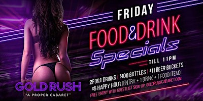 Friday: Food & Drink Specials