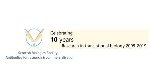 Scottish Biologics Facility 10th Anniversary Symposium