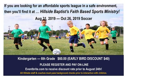 Sports Ministry - Soccer for K - 5th graders