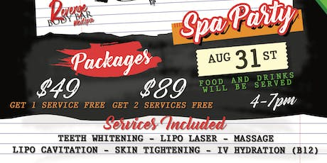 Back To School Spa Party tickets