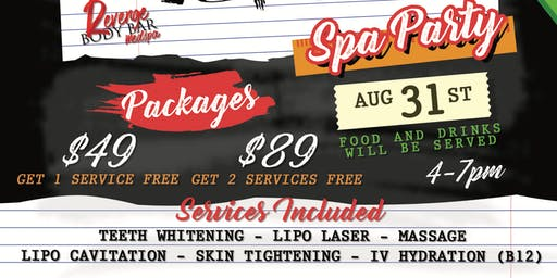 Back To School Spa Party
