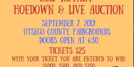 2019 Rotary Club of Gaylord Live Auction and Hoedown tickets
