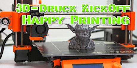 3D-Druck Kickoff - alles, was Du für Happy Printing wissen musst Tickets