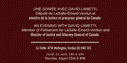 Soirée Avec David Lametti / Evening With David Lametti