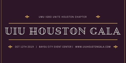 UIU Houston Gala Sat Oct 12th
