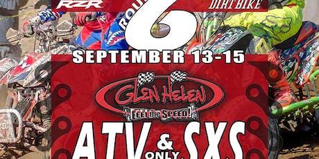 WORCS Round 6 Split Series – ATV SXS Only – Glen Helen Raceway tickets